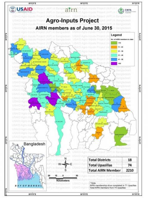 Image - Reach of the Agro-Input Retailers Network (AIRN)