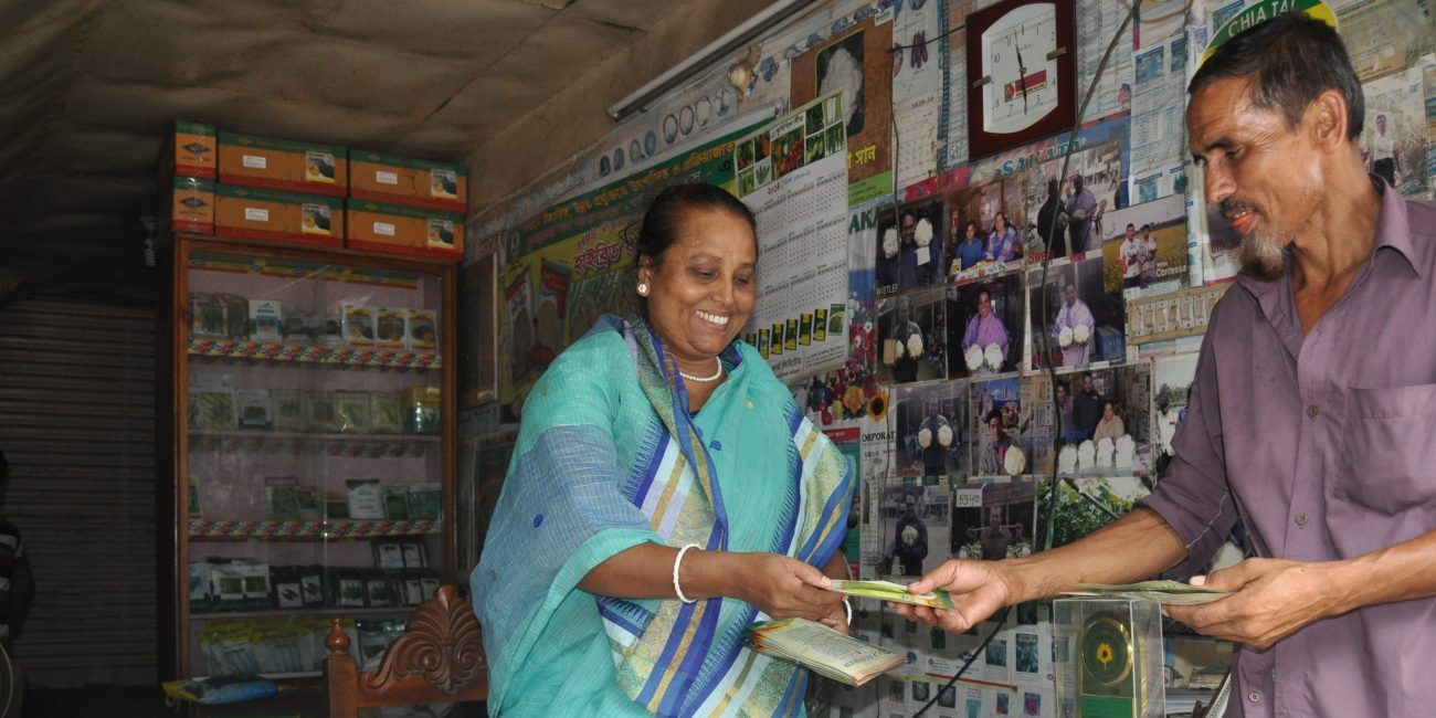 Through grants and technical assistance, we are establishing private retailer shops in Bangladesh