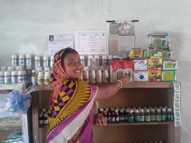 First Runner up_Labna _Swapna Mondol an AIRN member is organising her shop _October14