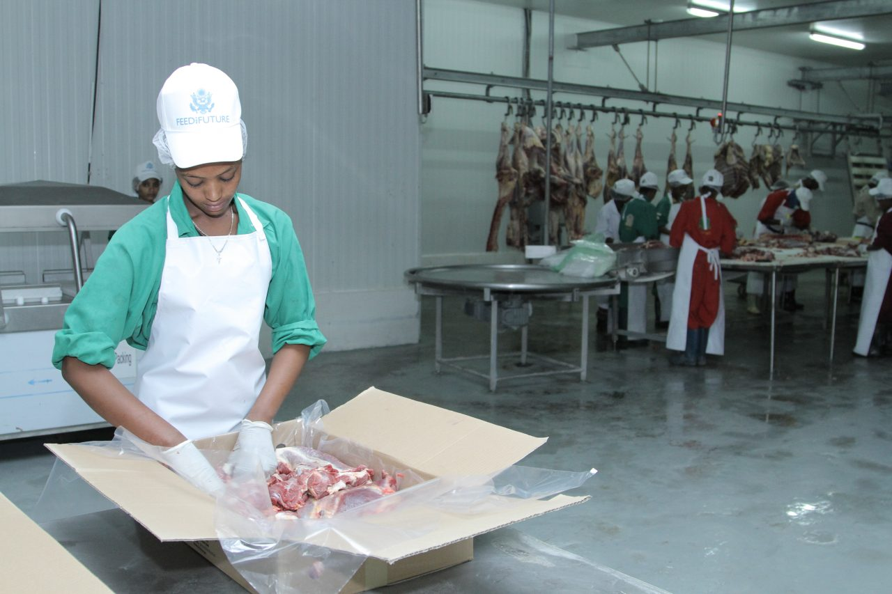 USAID Administrator Gayle Smith Visits Abergelle Abattoir in